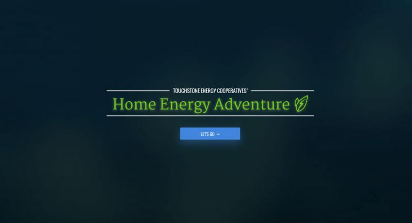 Home Energy Adventure Start Screen